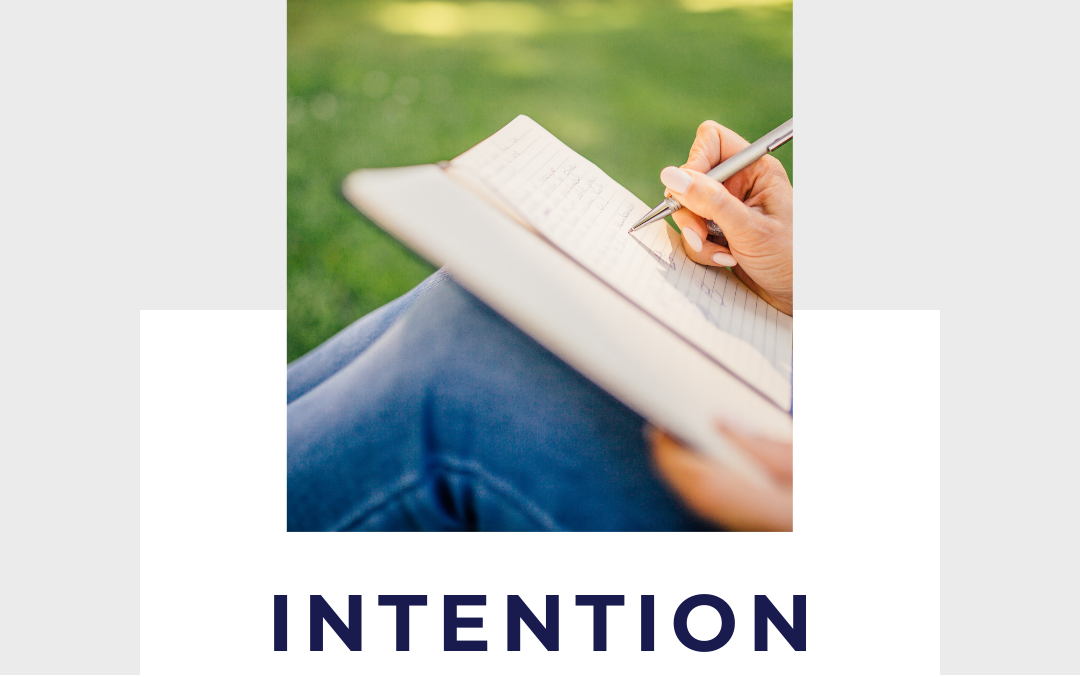 Intentions, Feeding Your Purpose and our Word for the Week